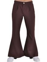 70 ' s Mens évasés pantalon brun Vêtement Disco