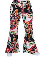 70 ' s Mens évasés pantalon liquide Vêtement Disco