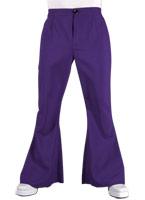 70 s Mens évasés pantalon violet Vêtement Disco