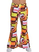 70 ' s Mens évasés pantalon rétro Vêtement Disco