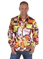 70 ' s Mens à jabot chemise en Satin rétro Vêtement Disco