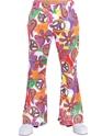 Vêtement Disco 70 ' s Fun Mens Print évasés pantalon