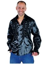 Mens Soul chemise noir Vêtement Disco