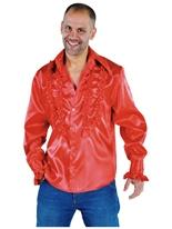 Mens Soul chemise rouge Vêtement Disco