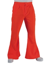 70 ' s Mens évasés pantalon Orange Vêtement Disco