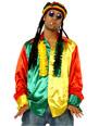 Vêtement Disco 70 ' s Mens Multi couleur chemise Rasta
