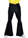 Vêtement Disco Pantalon Hippie noir luxe Mens