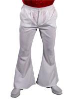 70 s Mens évasés pantalon blanc Vêtement Disco