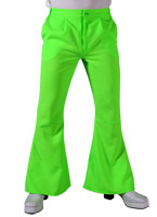 70 s Mens évasés pantalon vert clair Vêtement Disco