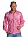 Vêtement Disco Chemise rose pailleté Mens Disco