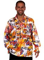 Chemise jabot Mens PUNK Vêtement Disco