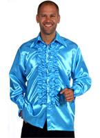 Chemise en Satin Mens Frill AQUA Vêtement Disco