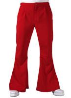 70 s Mens évasés pantalon rouge Vêtement Disco