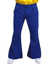 70 s Mens évasés pantalon bleu Vêtement Disco