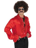 Chemise Disco rouge Vêtement Disco