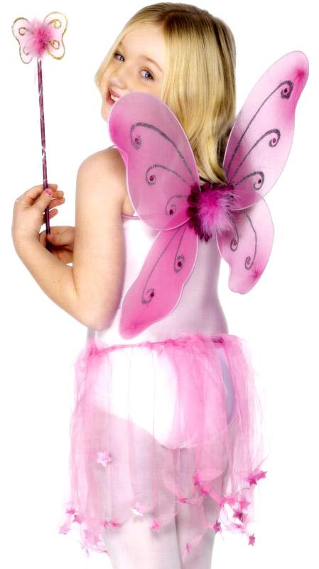 Accessoire Deguisement Papillon ailes rose