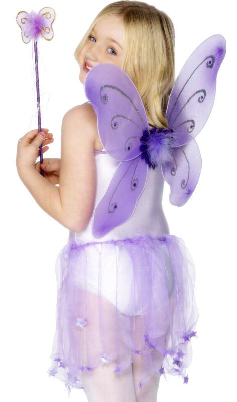 Accessoire Deguisement Papillon ailes violet