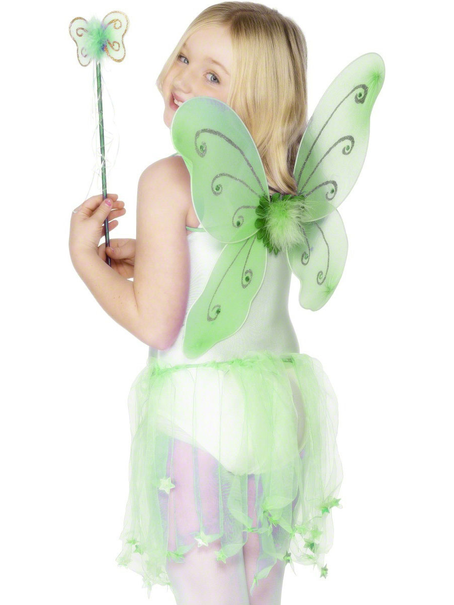Accessoire Deguisement Ailes de papillon vert