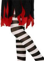 Childs collants noir et blanc à rayures Accessoire Deguisement
