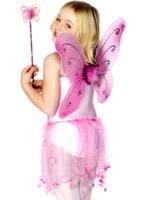 Papillon ailes rose Accessoire Deguisement