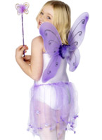 Papillon ailes violet Accessoire Deguisement