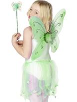 Ailes de papillon vert Accessoire Deguisement