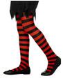 Accessoire Deguisement Childs collants à rayures noir et rouge