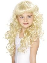 Perruque frisée Blonde de Childrens princesse Accessoire Deguisement