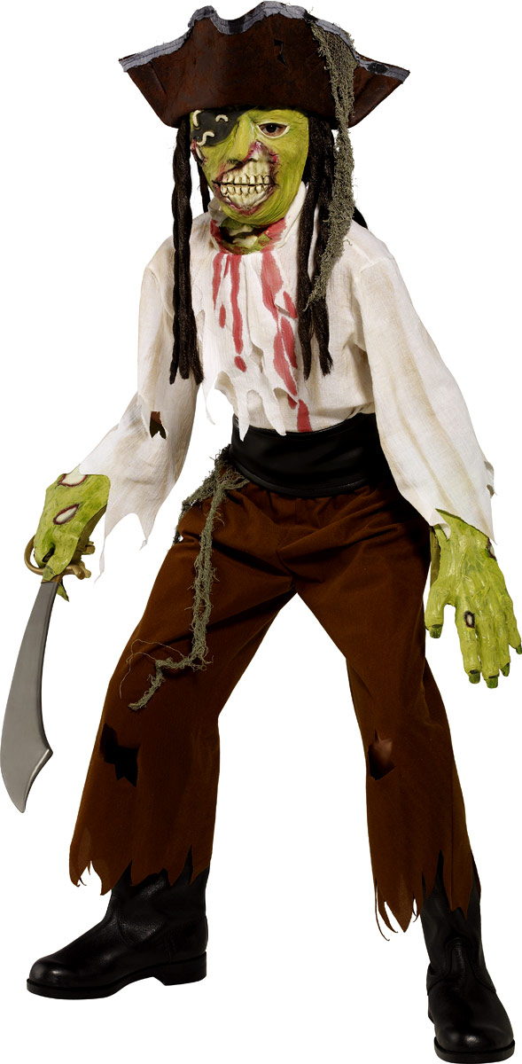 Déguisement Garçons Costume de Pirate Zombie Alley Childrens coupe gorge