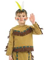 Costume de chef indien pour enfants Déguisement Garçons