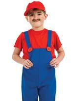 Compagnon rouge pour enfants Costume plombier Déguisement Garçons