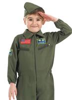 Costume pour enfants cadets de l'air Déguisement Garçons