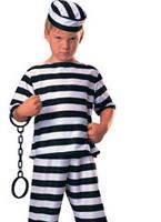 Costume garçon prisonnier Déguisement Garçons
