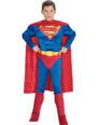 Enfant Super Héros Enfant Muscle poitrine Costume de Superman