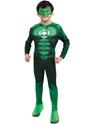 Enfant Super Héros Costume Deluxe Muscle poitrine Hal Jordon pour enfants
