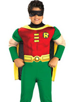 Deluxe Muscle poitrine Robin Childrens Costume Enfant Super Héros
