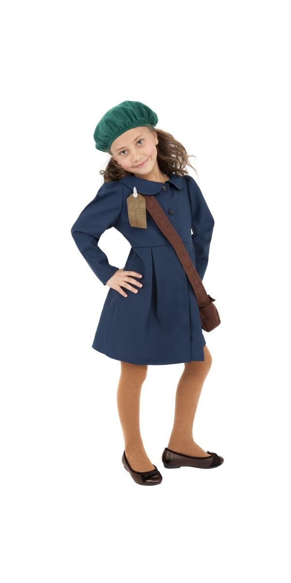 Costume Ecolier La seconde guerre mondiale filles Evacuee Childrens Costume