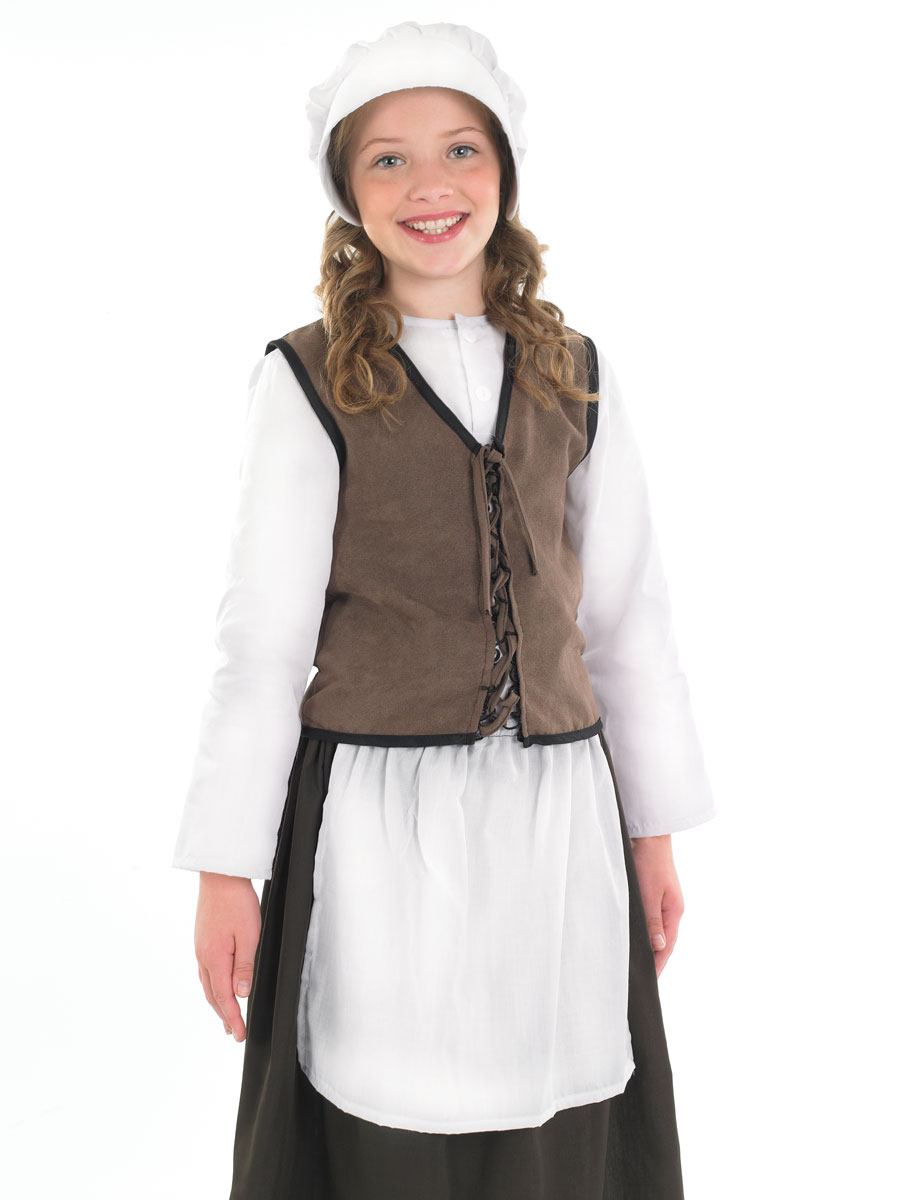Costume Ecolier Costume de Childrens Tudor cuisine fille