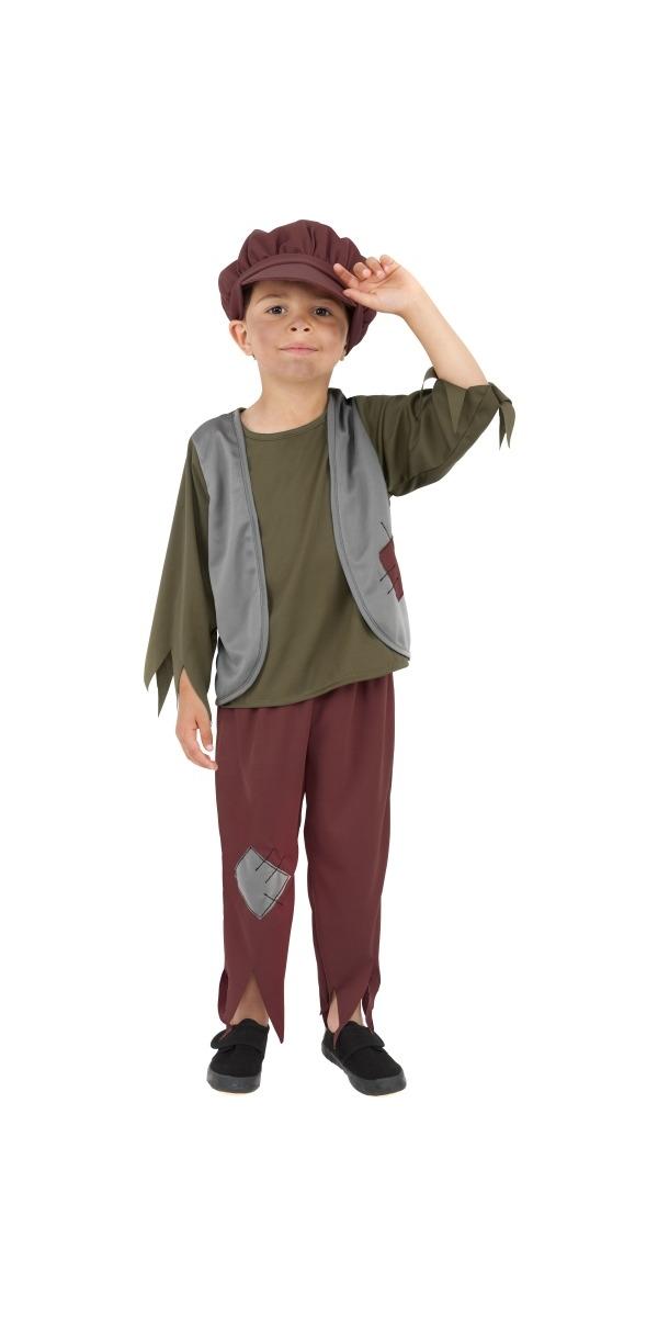 Costume Ecolier Pauvre garçon victorien Childrens Costume