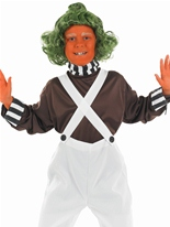 Costume Oompa Loompa Factory Worker pour enfants Costume Ecolier