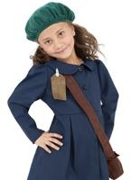 La seconde guerre mondiale filles Evacuee Childrens Costume Costume Ecolier