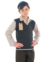 Costume de Childrens evacuee School Boy Costume Ecolier