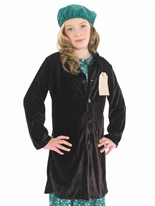 Costume de Childrens evacuee School Girl Costume Ecolier