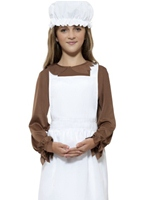 Tablier fille victorienne & Mop Cap Costume Ecolier