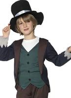 Victorien pauvre garçon Childrens Costume Costume Ecolier