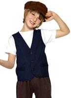Victorien paysan pauvre garçon Childrens Costume Costume Ecolier