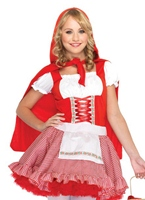 Teen Lil' Miss rouge Costume Costume ados