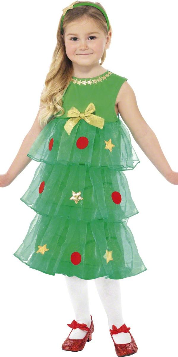 Deguisement Enfant Noel Petit arbre de Noël Tutu Costume Déguisement Filles Costume Enfant