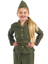 WW2 Army Girl Costume pour enfants Déguisement Filles