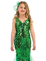 Costume Robe de sirène pour enfants Déguisement Filles